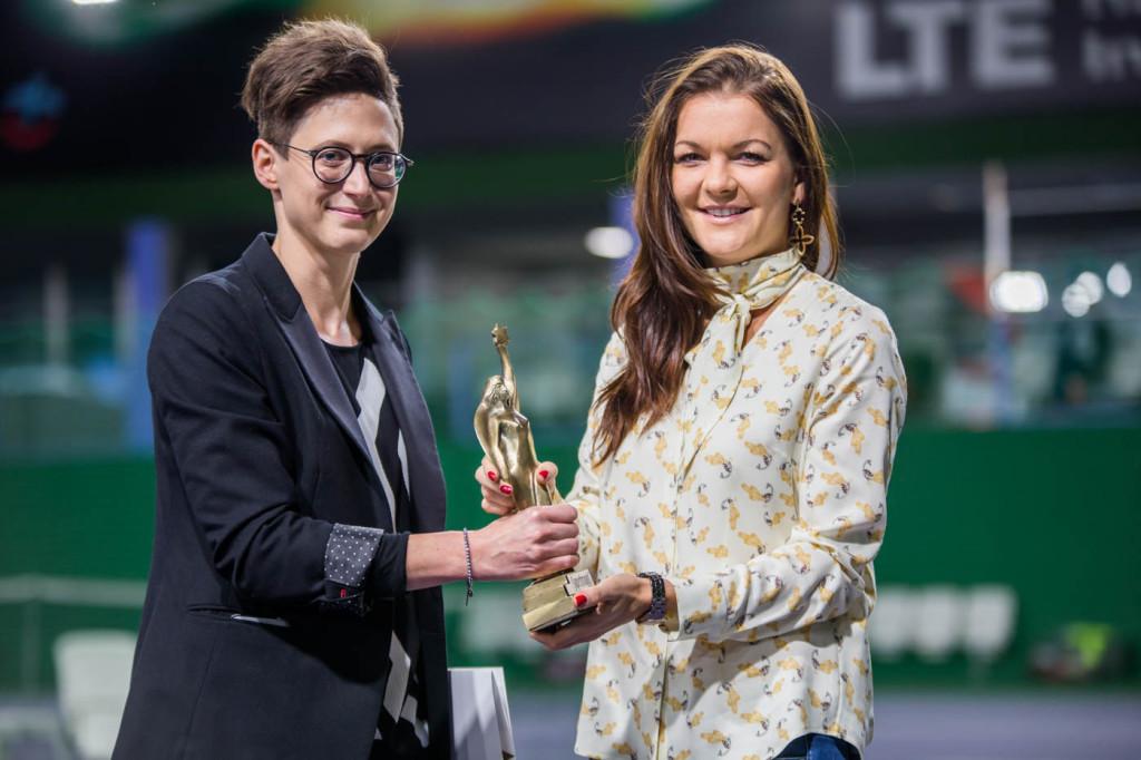 Monika Kowalewska i Agnieszka Radwanska